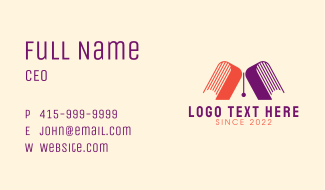 Letter A Bookstore Business Card