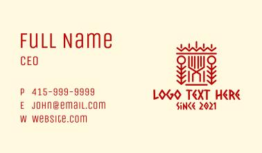Aztec Arrow Pattern Business Card