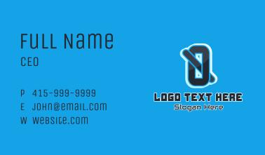 Digital Letter Q Business Card