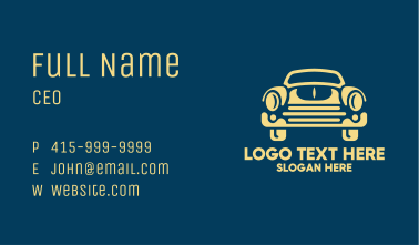 Old School Car Style Business Card