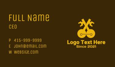 Golden Double Key Business Card