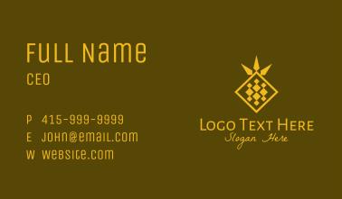 Golden Diamond Pineapple Business Card