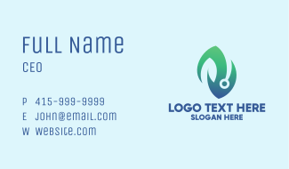 Bio Tech Leaf Business Card