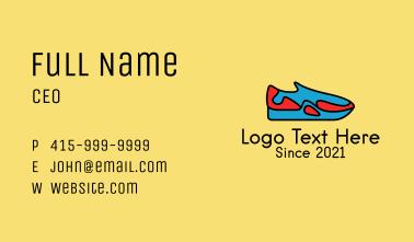 Sporty Sneaker Shop Business Card