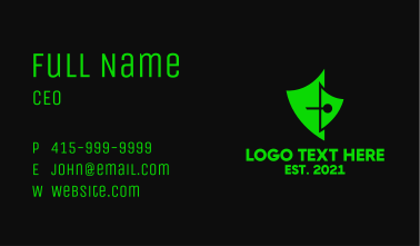 Gaming Shield Pen  Business Card
