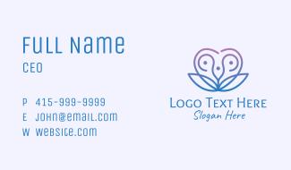 Abstract Flower Heart Business Card