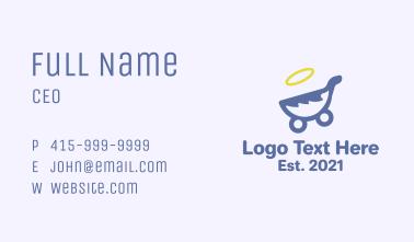 Angel Baby Pram  Business Card