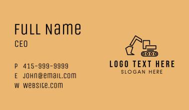 Construction Crane Vehicle Business Card