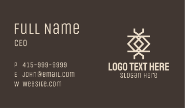 White Ethnic Print Business Card