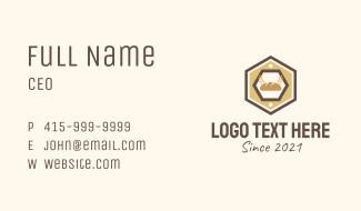 Hexagon Bakery Sign Business Card