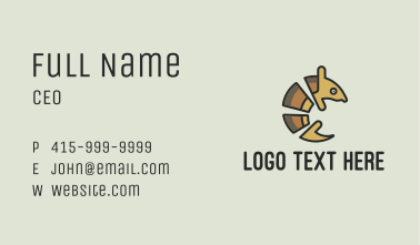 Brown Armadillo Business Card