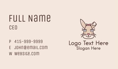Girl Bunny Face  Business Card