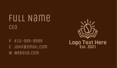 Coffee Library  Business Card