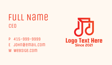 Geometric Musical Note Business Card