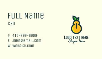 Pear Fruit Power Button Business Card