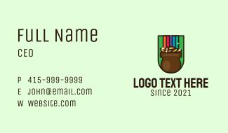 Rainbow Gold Pot Business Card