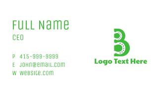 Green B Horseshoe Business Card