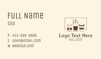 Coffee Sweet Drink Business Card