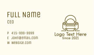Shell Accent Armchair Business Card