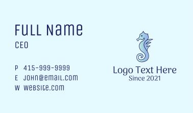 Gradient Aquatic Seahorse  Business Card