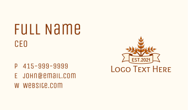 Wheat Bakery Banner Business Card