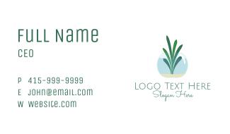 Aquatic Plant Fishbowl Business Card