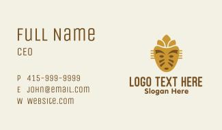 Golden Mayan Mask Business Card