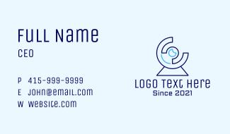 Digital Blue Webcam Business Card