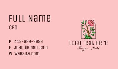 Wild Peony Flower Business Card
