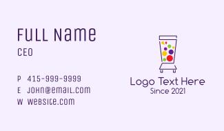 Colorful Juice Blender Business Card