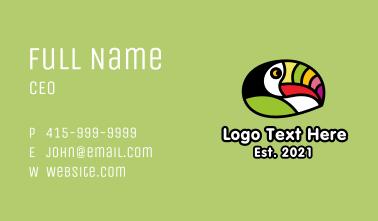 Multicolor Festive Toucan  Business Card