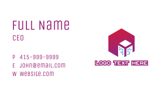 Gradient Polygon Building Business Card