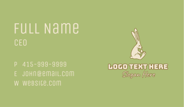 Easter Rabbit Egg Minimalist Business Card