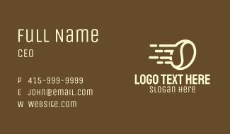 Express Coffee Bean Business Card