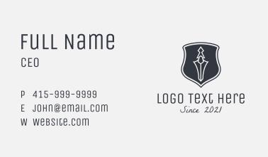 Sword Dagger Crest  Business Card