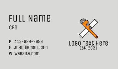 Wrench Handyman Tool  Business Card