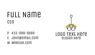 Simple Chandelier Light Fixture Business Card