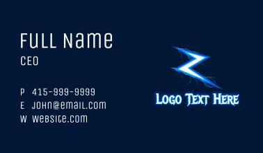 Zeus Lightning Letter Z Business Card