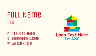 Preschool Block House Business Card