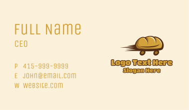 Fresh Bread Delivery  Business Card