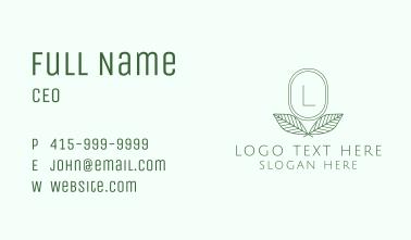 Minimalistic Plant Letter Business Card
