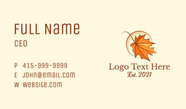 Elegant Dry Leaf  Business Card