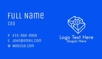 White Isometric Digicam Business Card