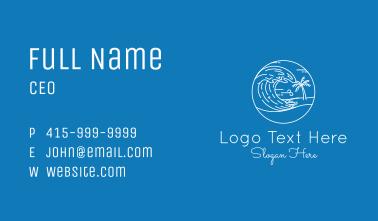 White Wave Beach  Business Card