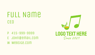 Green Soup Note  Business Card