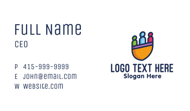 Colorful Human Shield Business Card