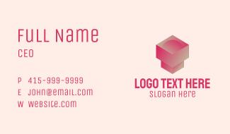 3D Geometric Pedestal  Business Card