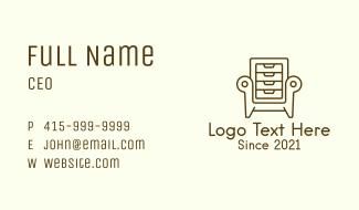 Cabinet Armchair Business Card