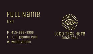 Moon Eye Astrological  Business Card