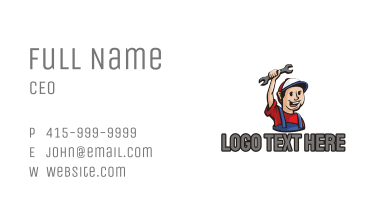 Handyman Mechanic Repairman Business Card